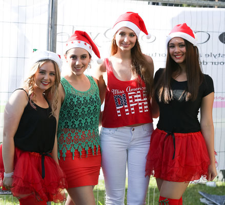 Girls in Santa costume