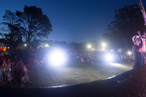 Crowd at Rotary Carols on the Common at Twilight