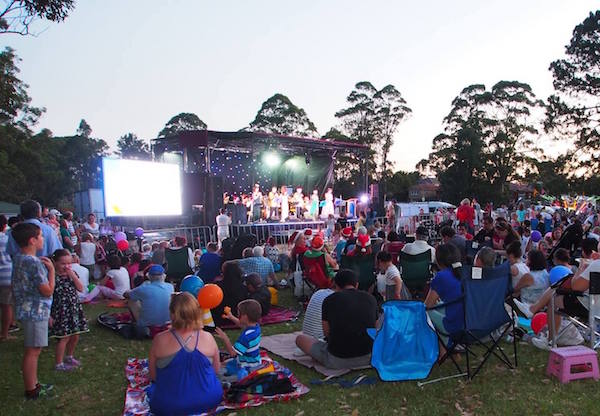 The Rotary Carols stage